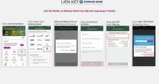 Các bước liên kết ví MoMo với ngân hàng Shinhan Bank