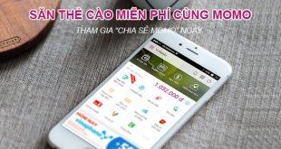 Cách nhận thẻ cào điện thoại miễn phí với ứng dụng MoMo