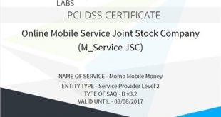 MoMo đạt Chứng nhận Bảo mật Quốc tế PCI DSS