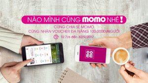 Chia sẻ MoMo nhận Voucher đa năng 100k mỗi người từ 07/06 – 30/09/2017