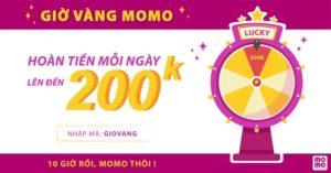 Tham gia Minigame giờ vàng MoMo có cơ hội hoàn tiền đến 200.000đ