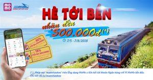 Tặng đến 500.000 trải nghiệm mua vé tàu và đặt phòng khách sạn
